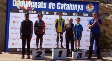 Campionats de Catalunya de Trial. Bons resultats dels pilots de LEVEL Biketrial School