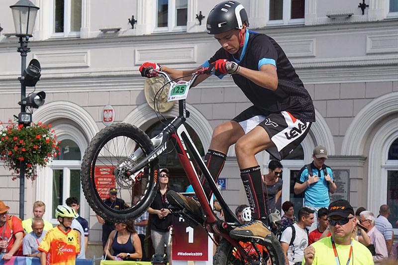 Hugo Orgaz als Jocs Mundials de Trial a Polònia
